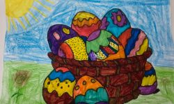 """Посрещаме най-светлия християнски празник с училищна изложба """"Пъстър, шарен Великден"""""""